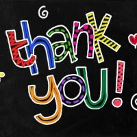 thank you to blog readers